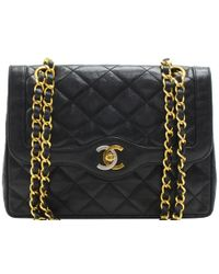 Chanel - Quilted Leather Vintage Double Flap Bag - Lyst