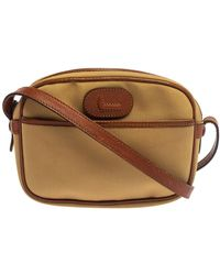 Lancel Beige/brown Canvas And Leather Crossbody Bag - Natural