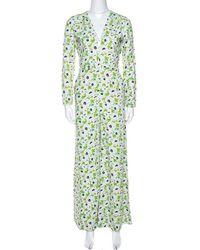 Stella McCartney Multicolour Floral Print Crepe Jumpsuit - Green