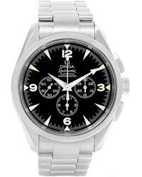 Omega Black Stainless Steel Aqua Terra Railmaster Chronograph 2512.52.00 Men's Wristwatch 42.2mm