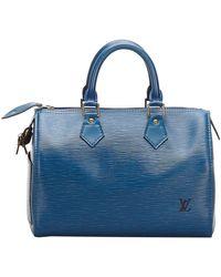 Louis Vuitton - Blue Epi Leather Speedy 25 Bag - Lyst