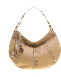 Dolce & Gabbana Beige Leather And Snakeskin Hobo - Natural