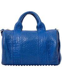 Alexander Wang Blue Rockie Lambskin Leather Boston Bag