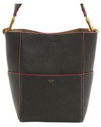 Céline Black Leather Sangle Seau Shoulder Bag
