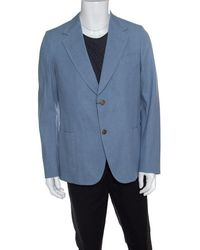 Gucci Sky Blue Cotton Tailored Mayfair Blazer
