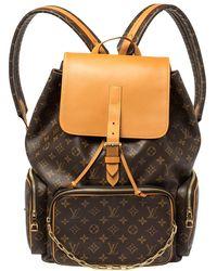 Louis Vuitton Monogram Canvas Trio Backpack - Brown