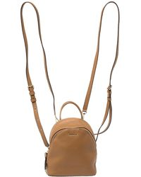 DKNY Brown Leather Mini Greenwich Backpack