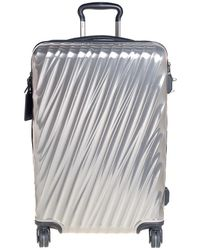 Tumi Sliver Polycarbonate 19 Degree International Carry On Luggage - Metallic