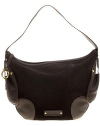 Ferragamo - Suede And Leather Hobo - Lyst