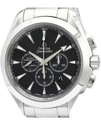 Omega Black Stainless Steel Seamaster Aqua Terra Co-axial 231.10.44.50.01.001 Men's Wristwatch 44 Mm