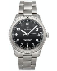 Breitling Black Stainless Steel Navitimer 8 A17314101b1a1 Wristwatch 41 Mm