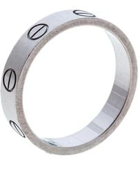 Cartier - Love 18k White Gold Mini Ring Size 49 - Lyst