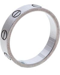 Cartier Love 18k White Gold Mini Ring Size 49
