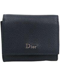Dior Homme - Dior Homme Black Leather Wallet - Lyst