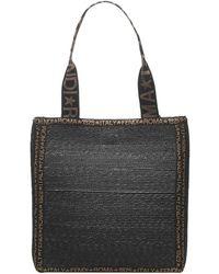 Fendi Black/brown Raffia Tote Bag