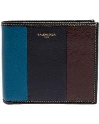 Balenciaga Multicolour Leather Bazar Bi Fold Compact Wallet - Black
