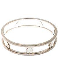 Tiffany & Co. Open Heart Silver Wide Bangle Bracelet - Metallic