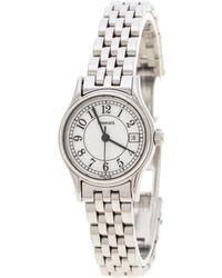 Tiffany & Co. - White Stainless Steel Portfolio Women's Wristwatch 24 Mm - Lyst