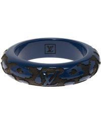 Louis Vuitton - Blue Leo Monogram Wood & Lacquer Bangle Size 20cm - Lyst