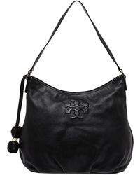 Tory Burch Black Leather Thea Hobo