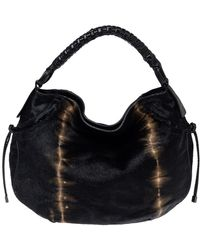 Ferragamo Salvatore Ferregamo Black Calfhair And Leather Federica Hobo