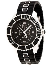 Dior Black Stainless Steel Christal Cd11311fr001 Women's Wristwatch 33 Mm