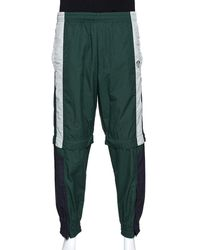 Vetements Green & Black Convertible Zip Off Track Trousers