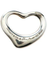Tiffany & Co. Elsa Peretti Open Heart Silver Pendant - Metallic