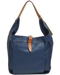 Hermès Blue Leather Marwari Gm Bag