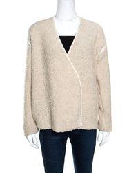 Zadig & Voltaire - Cream Textured Wool Open Front Daphnee Cardigan - Lyst