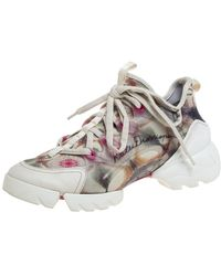 Dior Multicolour Neoprene And Transparent Pvc D Connect Kaleidoscopic Trainers