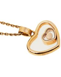 Chopard Happy Diamond Heart 18k Rose Gold Pendant Necklace - Metallic