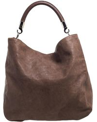 Saint Laurent Brown Leather Large Roady Hobo