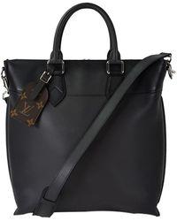 Louis Vuitton - Noir Calf Leather Cabas Jour Tote - Lyst