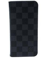 Louis Vuitton Damier Graphite Canvas Iphone 7&8 Folio Case - Black