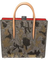 Christian Louboutin Multicolour Wool And Leather Medium Limited Edition Spike Camouflage Paloma Tote