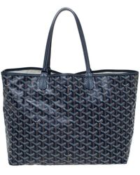 Goyard Navy Blue Ine Coated Canvas St. Louis Pm Tote
