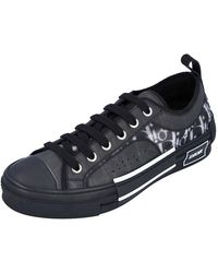 Dior Black Oblique Canvas B23 Low Top Trainers