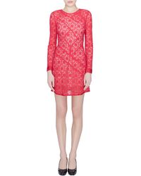 Marc By Marc Jacobs Strawberry Daiquiri Floral Lace Panelled Leila Dress - Pink