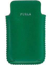 Furla Green Leather Phone Case