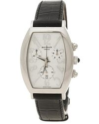 Balmain White Mother Of Pearl Stainless Steel Arcade Chronograph Women's Wristwatch - Black