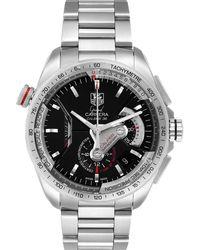 Tag Heuer Black Staineless Steel Grand Carrera Calibre Cav5115 Wristwatch 44 Mm