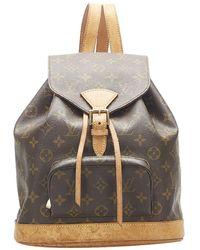 Louis Vuitton Monogram Canvas Montsouris Mini Backpack - Brown