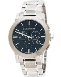 Burberry - Black Stainless Steel The City Bu9351 Men's Wristwatch 42 Mm - Lyst