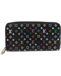 Louis Vuitton X Takashi Murakami Pre-owned Zippy Monogram Wallet - Black