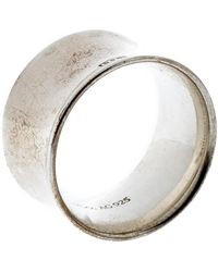 Tiffany & Co. 1837 Silver Band Ring Size 56 - Metallic