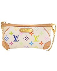 Louis Vuitton Monogram Multicolore Canvas Milla Mm Pochette Bag - White