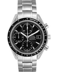 Omega Black Stainless Steel Speedmaster Chronograph 3210.50.00 Wristwatch 40 Mm