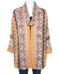 Missoni Multicolour Pointelle Knit Infinity Scarf Cardigan Set