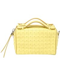 Tod's Yellow Leather Micro Studs Gommino Bag